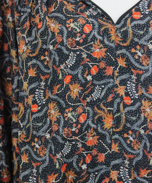 Isabel Marant Black Blouse with Orange Floral Print 5