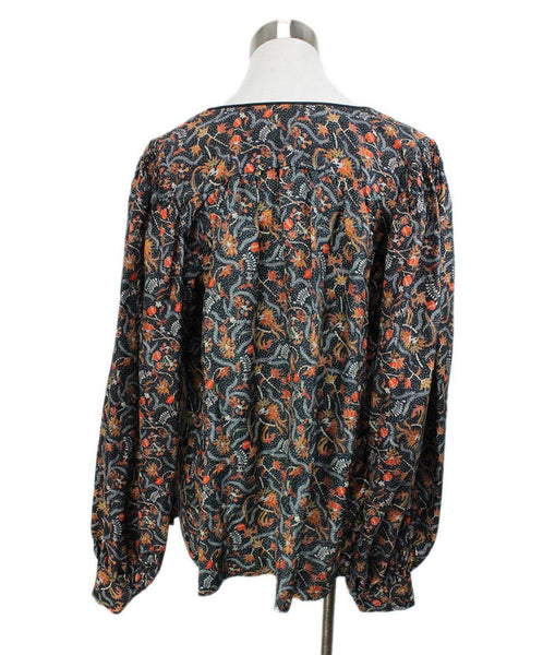 Isabel Marant Black Blouse with Orange Floral Print 3