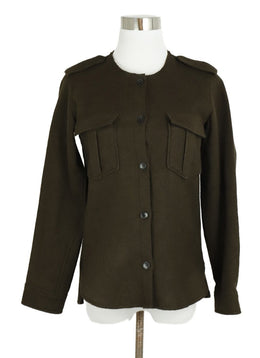Isabel Marant Brown Wool Button Down Top 1