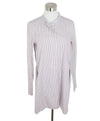 Isabel Marant Grey and Red Striped Cotton Tunic 1