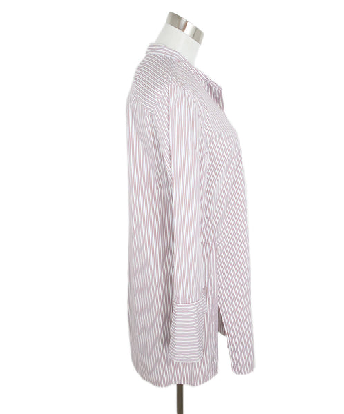Isabel Marant Grey and Red Striped Cotton Tunic 2
