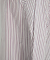 Isabel Marant Grey and Red Striped Cotton Tunic 6