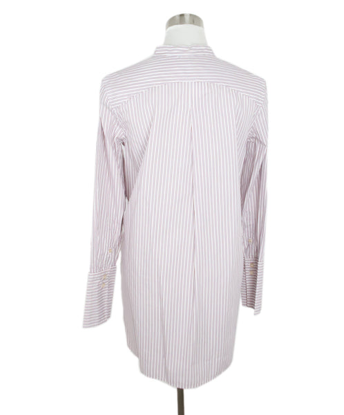 Isabel Marant Grey and Red Striped Cotton Tunic 3