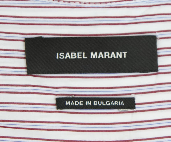 Isabel Marant Grey and Red Striped Cotton Tunic 4