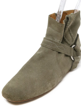 Isabel Marant Grey Suede Booties 1