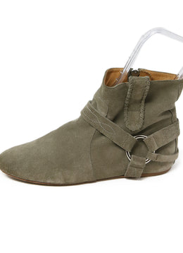 Isabel Marant Grey Suede Booties 2