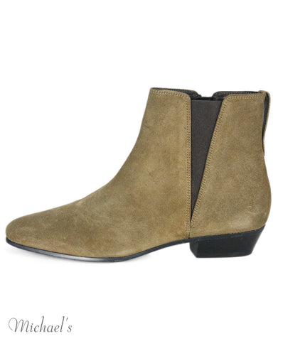 Isabel Marant Olive Green Suede Booties Sz 38