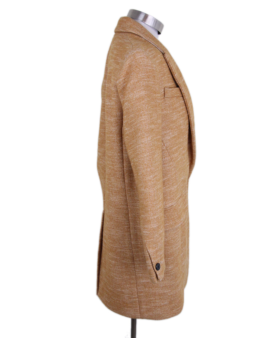 Isabel Marant Orange tan Wool coat 2