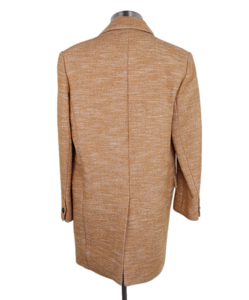 Isabel Marant Orange tan Wool coat 3