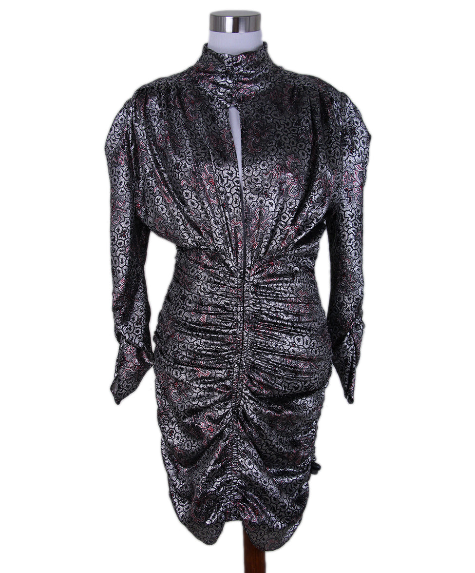 Isabel Marant Silver Red Evening Dress 1