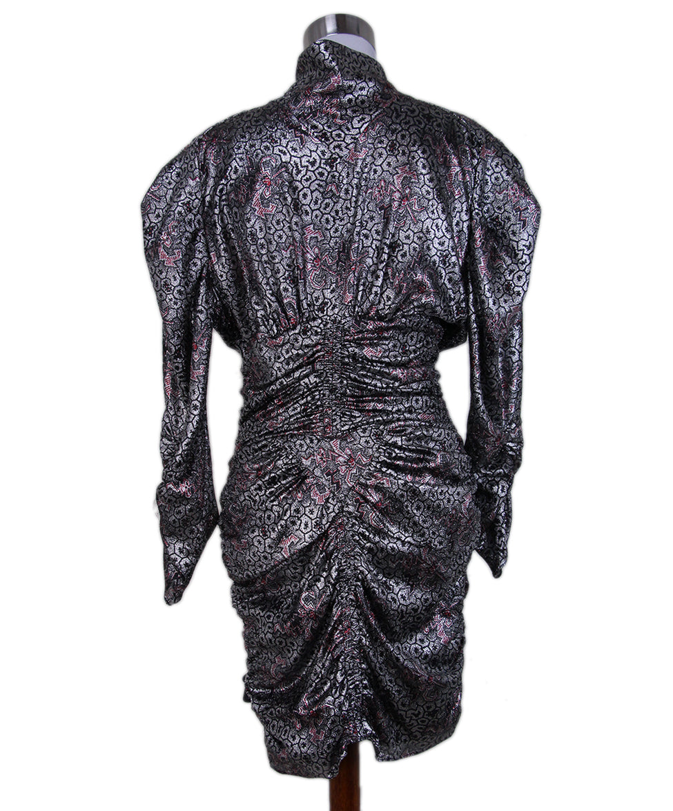 Isabel Marant Silver Red Evening Dress 3