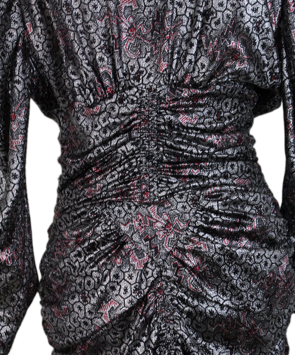 Isabel Marant Silver Red Evening Dress 5
