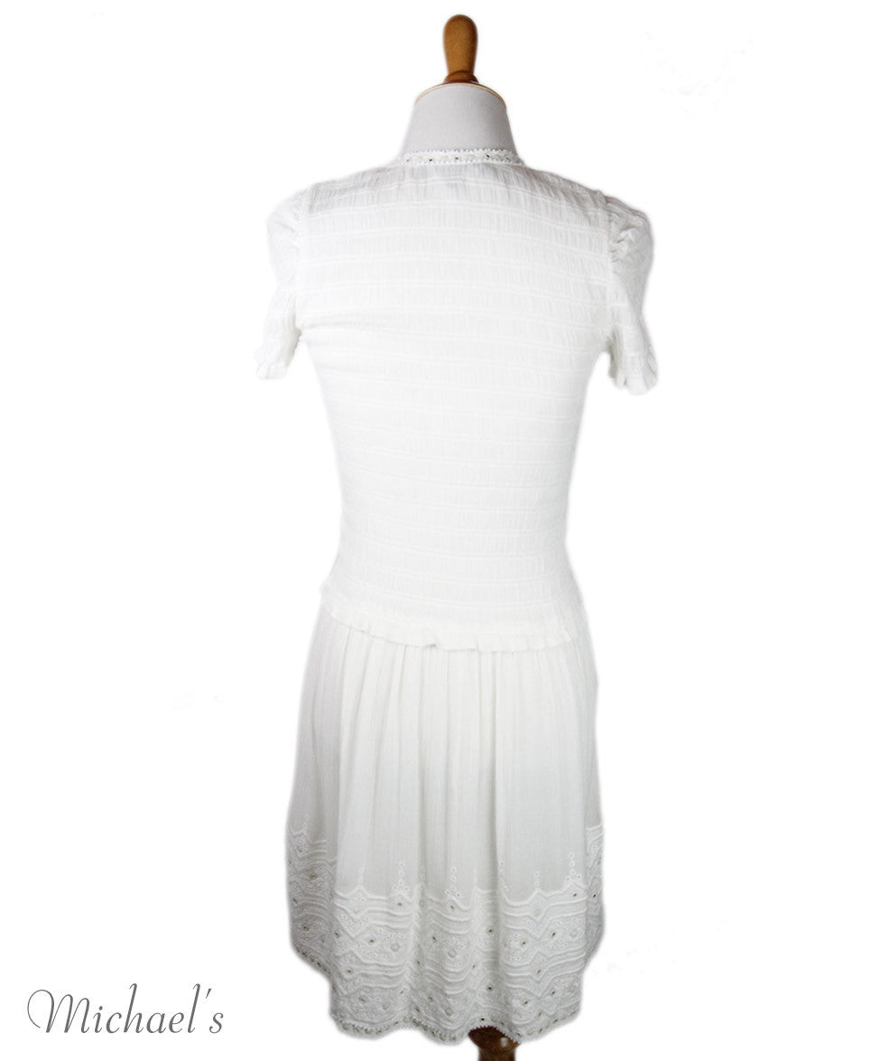 Isabel Marant Size 4 White Cotton Dress