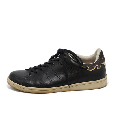 Isabel Marant black leather sneakers 1