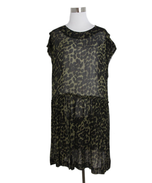 Isabel Marant black olive leopard print dress 1