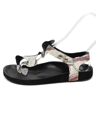 Isabel Marant Ivory Floral Leather Sandals 1