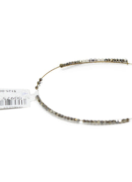 Isabel Marant Pewter Purple Beaded Bangle 1
