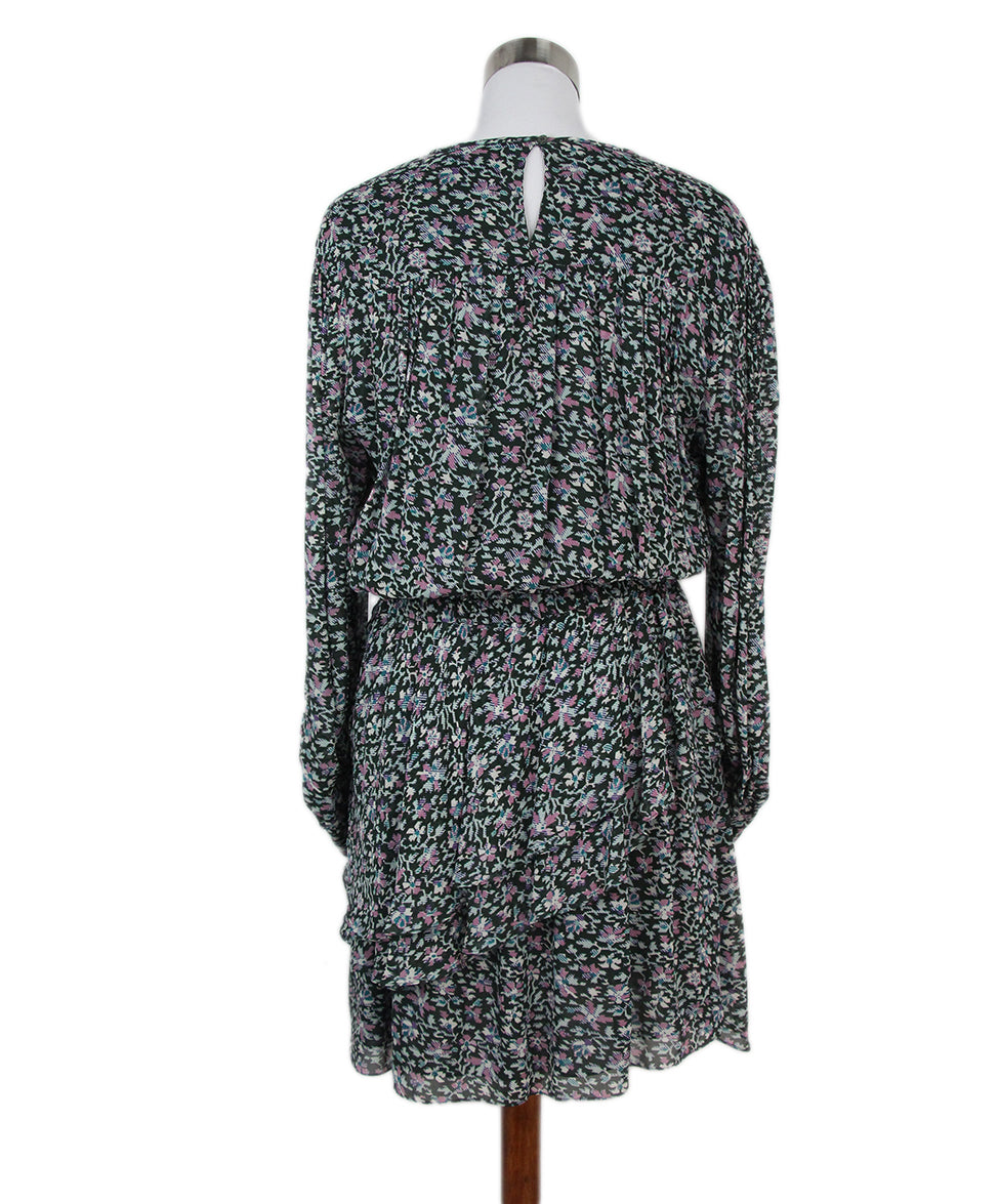 Isabel Marant pink olive print dress 3