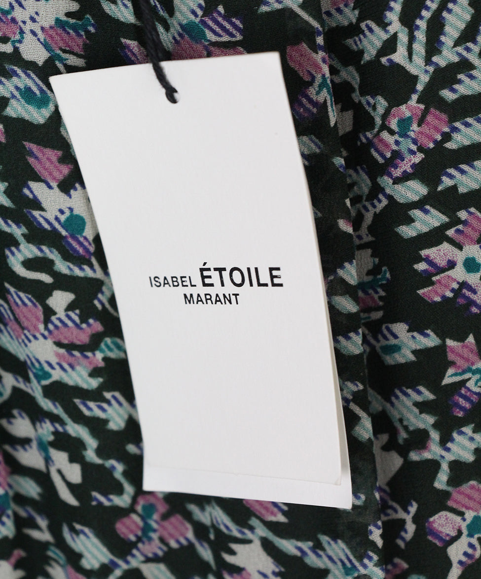 Isabel Marant pink olive print dress 5