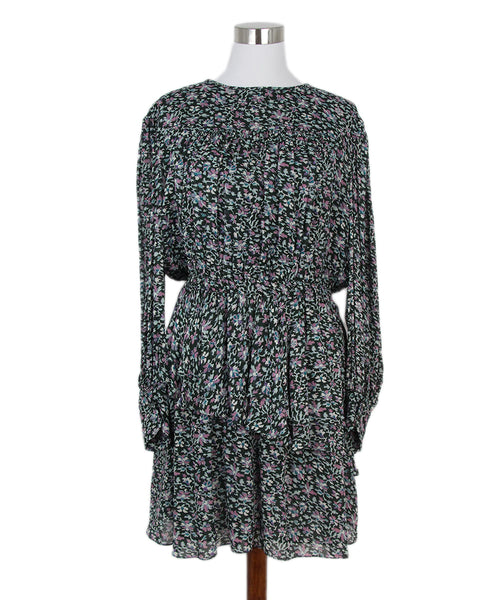 Isabel Marant pink olive print dress 1