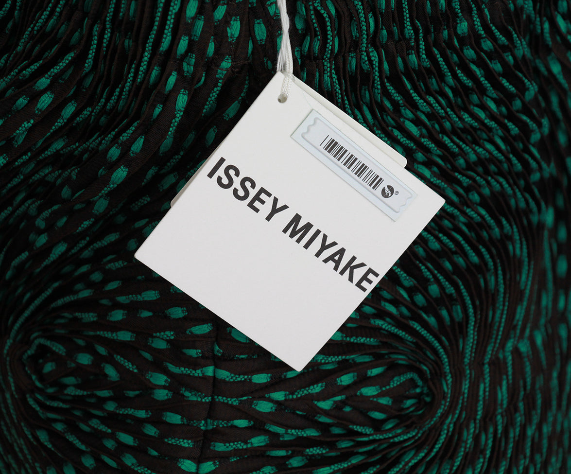 Issey Miyake Green Brown Pleated Top 7