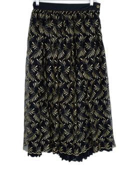 Italy Black Gold Lurex Skirt 1