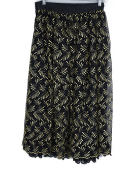 Italy Black Gold Lurex Skirt 2