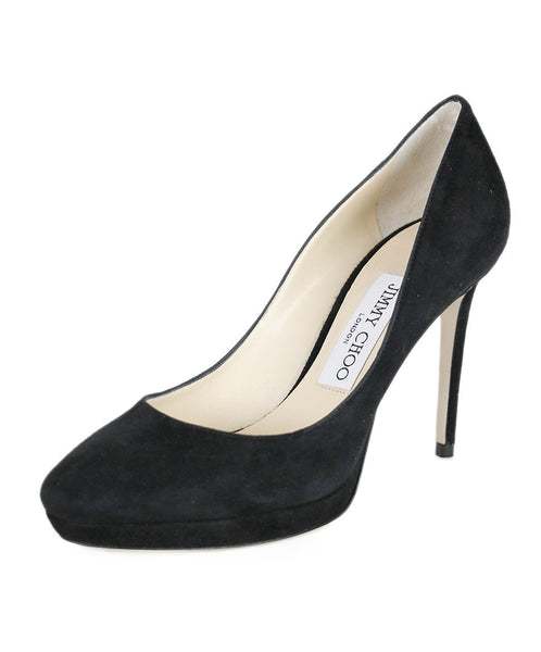 Jimmy Choo Black Suede  Shoes Sz 36