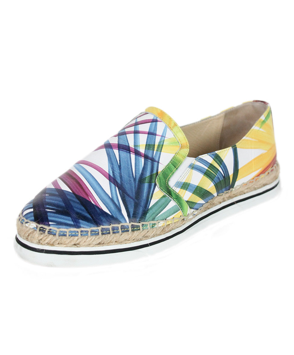 Jimmy Choo Sneakers US 10 Blue Multi Leather Espadrilles Shoes