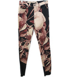 J Brand Neutral Tan Purple Floral Photo Print Black Jeans 1