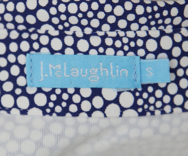 J. Mclaughlin Blue White Dot Print Dress 4