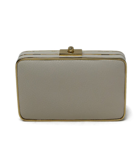 Charlotte Olympia White Leather Marble Calfskin Handbag