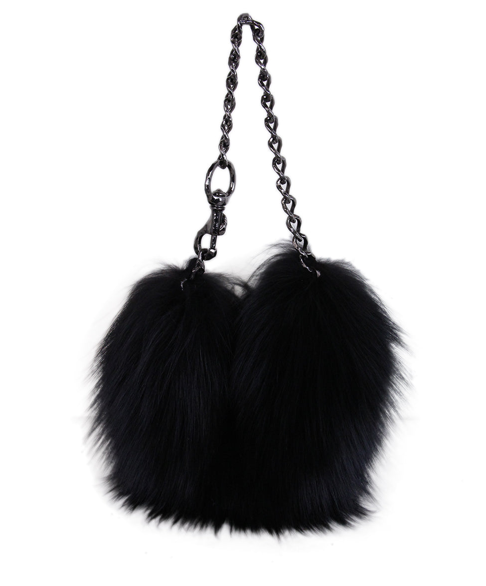 J. Mendel Black Fur Handbag 1