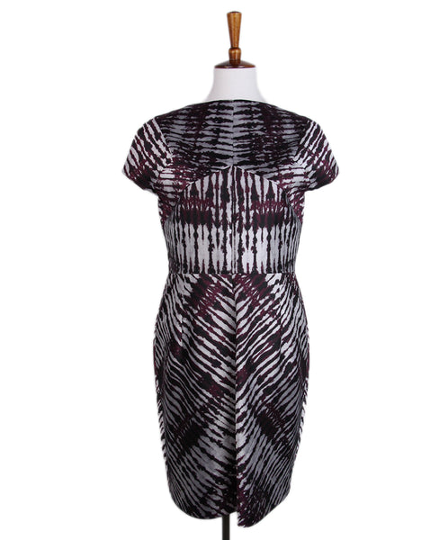 J. Mendel Black Plum Silver Dress 1