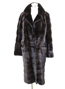 J. Mendel Brown Mink Fucshia Silk Lining Coat