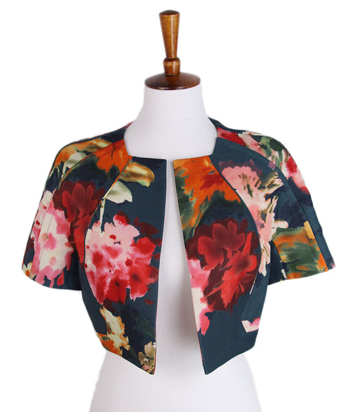 J. Mendel Green Red Floral Jacket 1