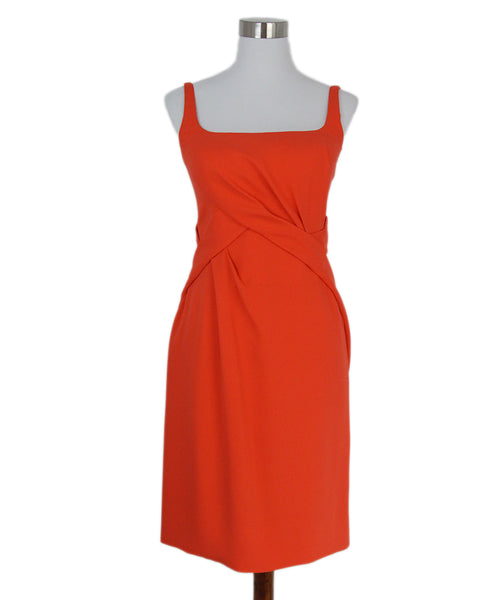 J Mendel orange silk sleeveless dress 1