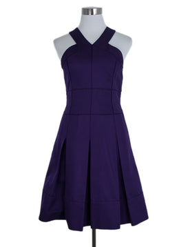 J. Mendel Size 2 Purple Silk Cotton Dress 1