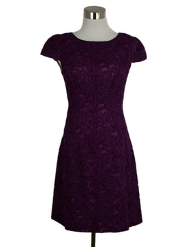 J. Mendel Purple Evening Lace Dress 1