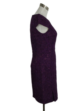 J. Mendel Purple Evening Lace Dress 2