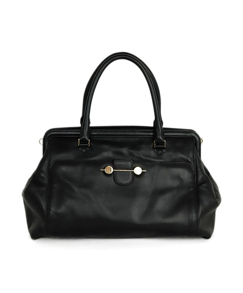 Jason Wu Black Leather Doctor Handbag 1