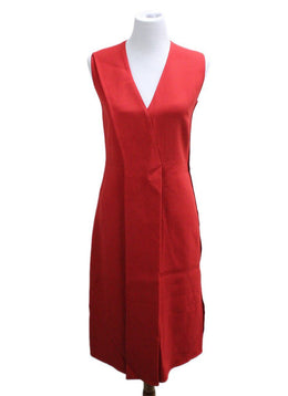 Jason Wu Size 8 Red Acetate Viscose Dress
