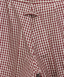 Jean Paul Gaultier Red White Gingham Print Silk Pants 5