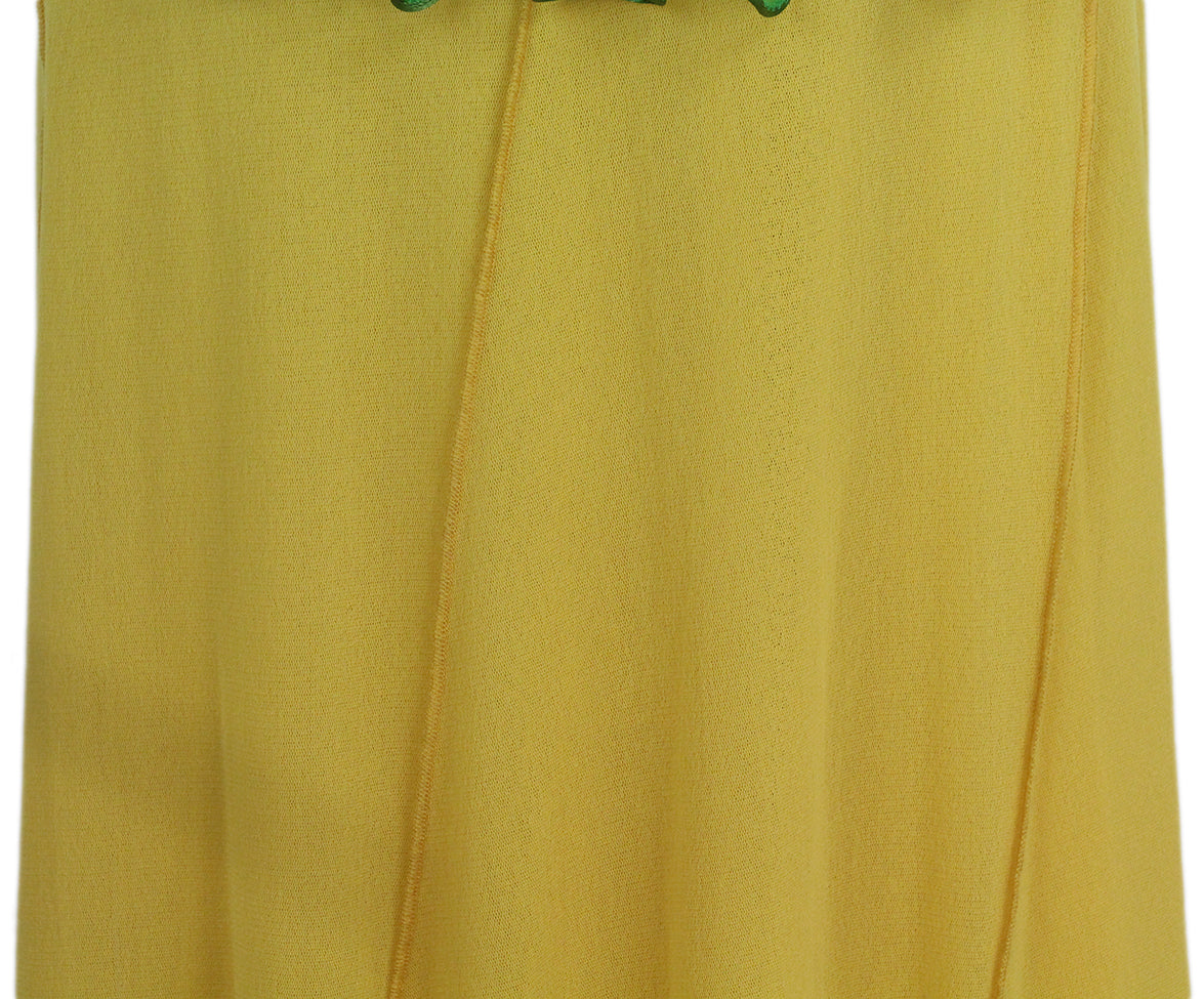 Jean Paul Gautier green yellow two piece skirt set 7