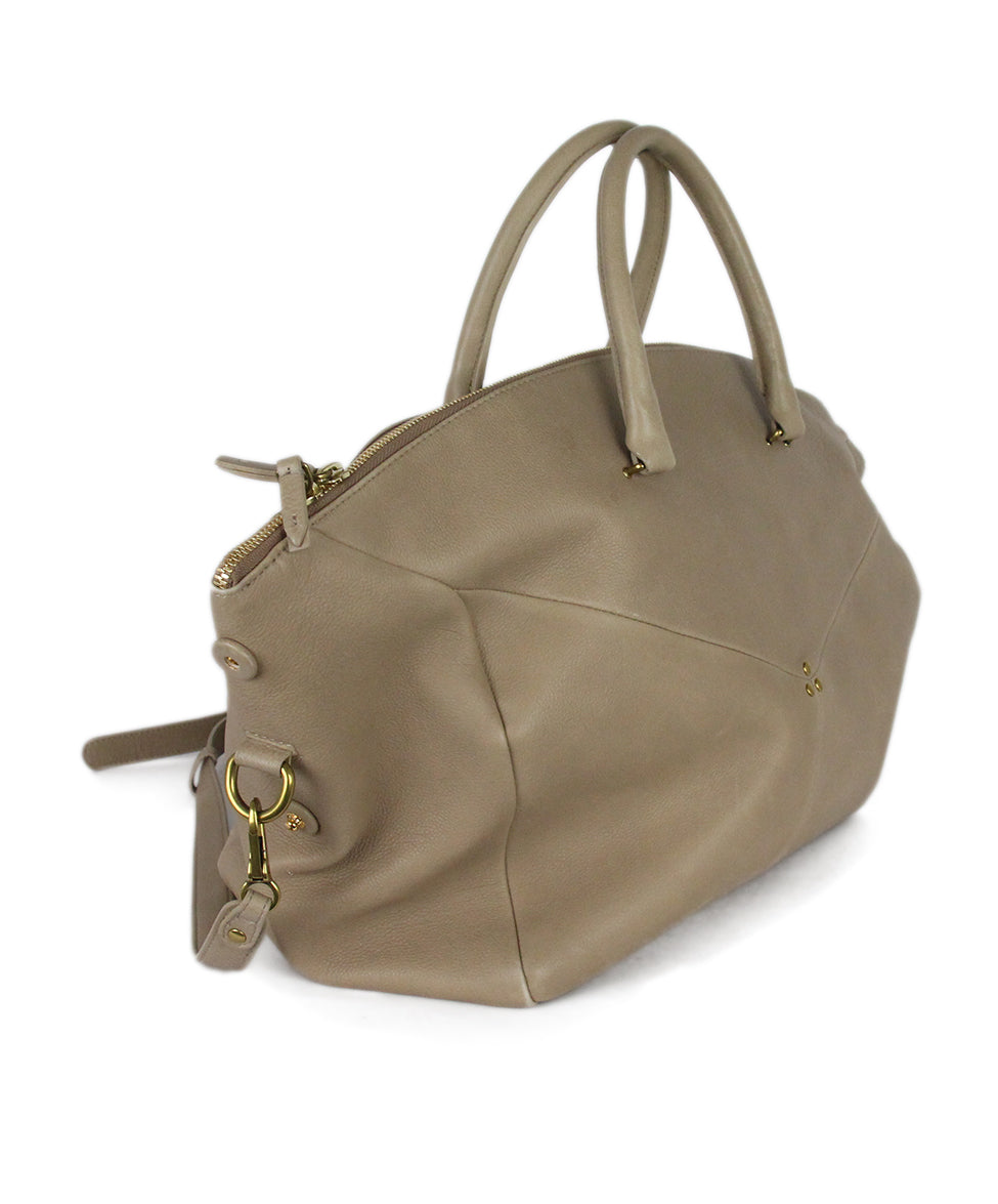 Jerome Dreyfuss Neutral Tan Leather Satchel  Handbag 2