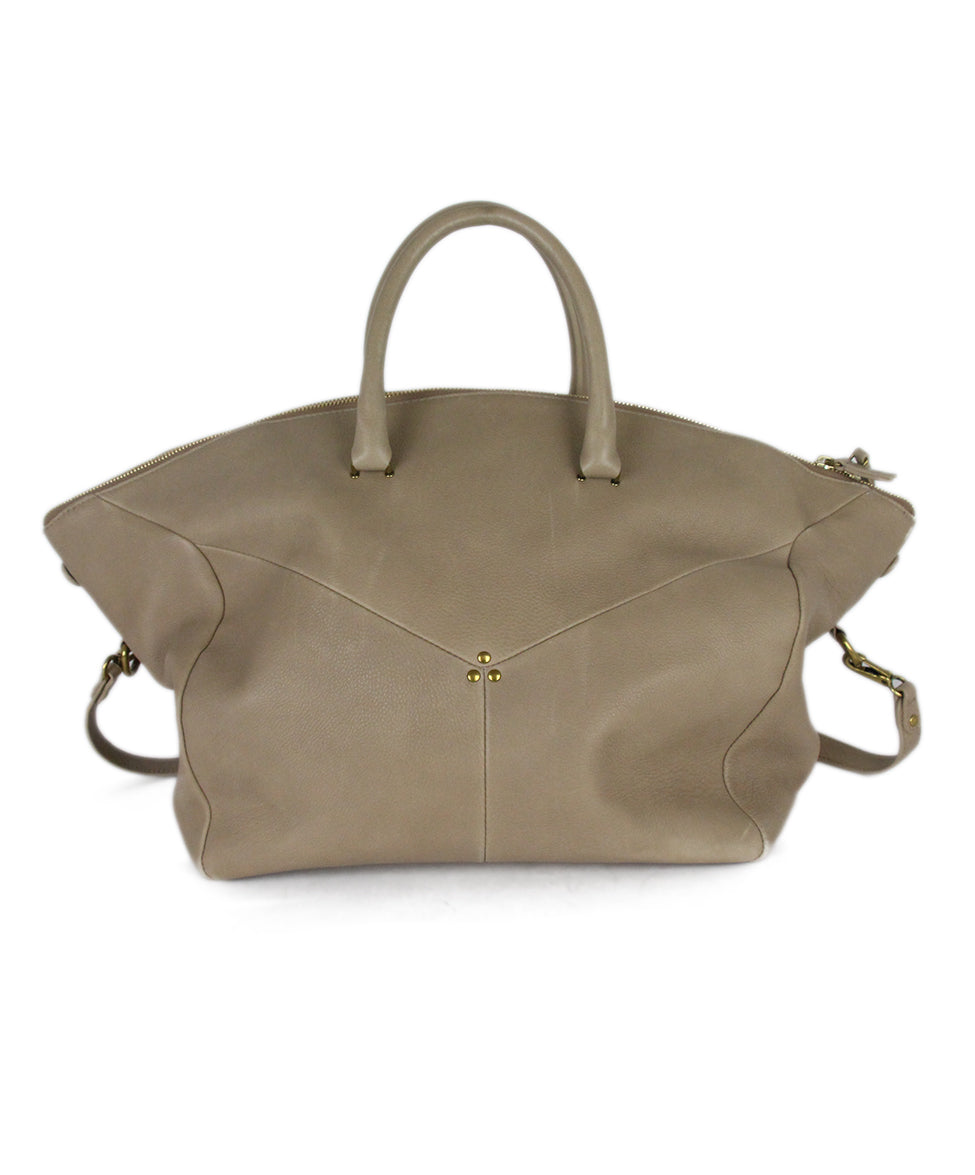 Jerome Dreyfuss Neutral Tan Leather Satchel  Handbag 3