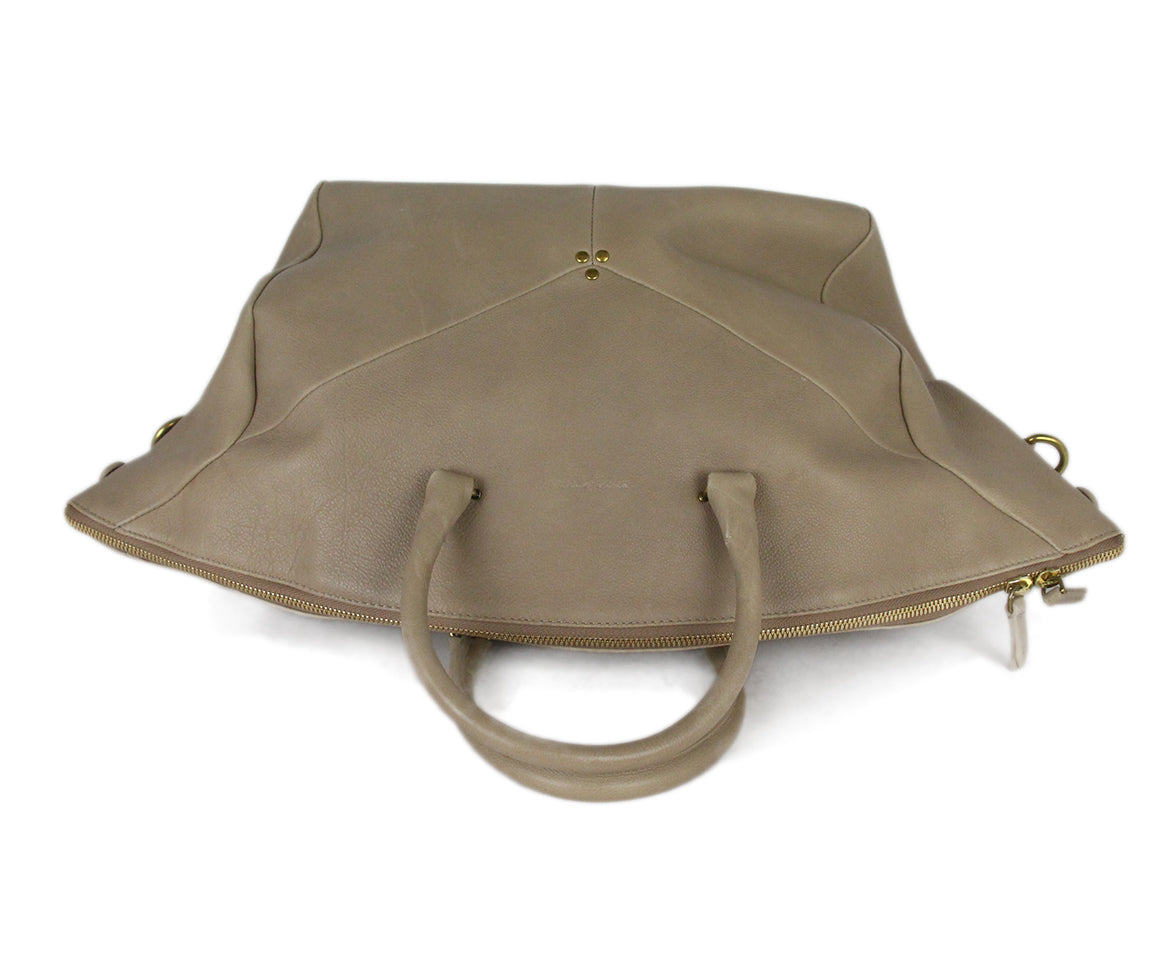 Jerome Dreyfuss Neutral Tan Leather Satchel  Handbag 5