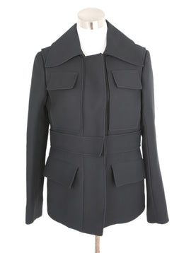 Jil Sander Black Wool Silk Jacket 1