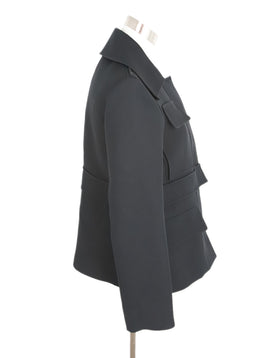 Jil Sander Black Wool Silk Jacket 2