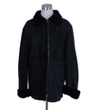 Jil Sander Black Shearling Coat Outerwear 1
